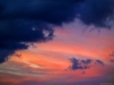 Sunset Clouds Photographic Print by Raul Touzon