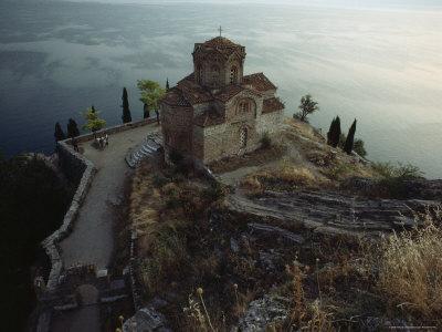 The Ohrid Region Is a World Heritage Site, Church of Saint John Kaneo, Lake Ohrid, Yugoslavia Photographic Print by James L. Stanfield