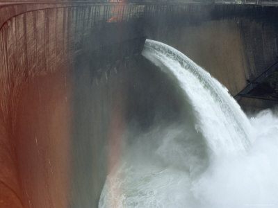 Water Pours over the Kariba Dam, Zimbabwe Photographic Print by James L. Stanfield