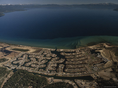 The Development of Tahoe Keys on Lake Tahoe, California Photographic Print by Phil Schermeister