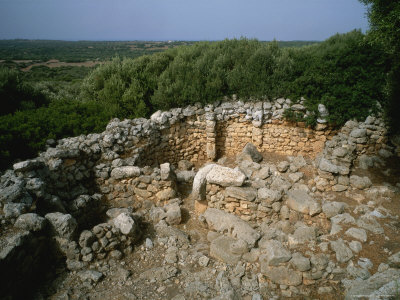 Ancient Dwellings in Menorca, Spain Lámina fotográfica