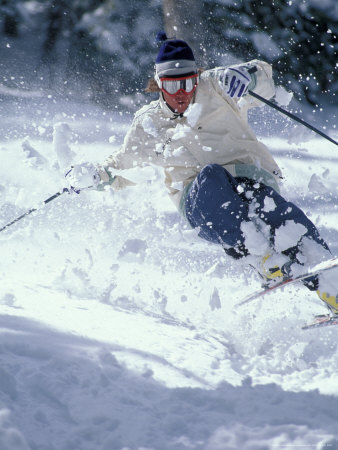 Skiing in Taos, New Mexico, USA Photographic Print by Lee Kopfler