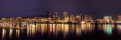 Panoramic View of Portland Waterfront, Oregon, USA Photographic Print by Brent Bergherm