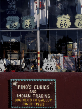 Route 66 Storefront, Gallup, New Mexico, USA Photographic Print by Judith Haden