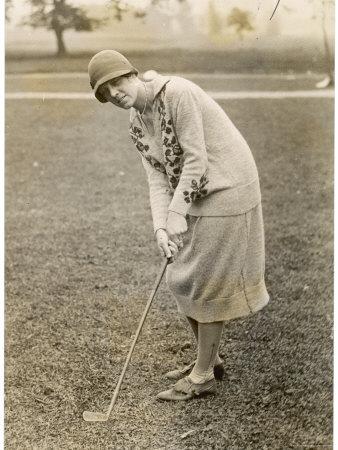 Princess Lokowitz Social Reformer and Enthusiastic Golfer Enjoys a Round Photographic Print
