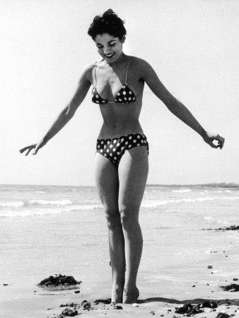 Polka Dot Bikini 1950s Photographic Print