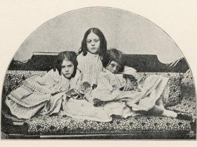 Alice Liddell Lorina, Alice, Edith Photographic Print