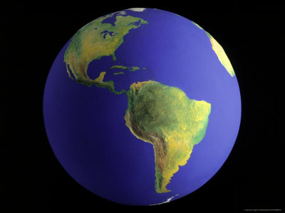 Globe, View of South America Photographic Print by Matthew Borkoski