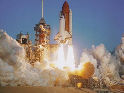 space shuttle launch. Space Shuttle Lifting Off