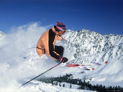 Skiing at Arapahoe Basin, CO Photographic Print by Bob Winsett