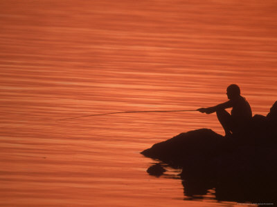 Fishing, Guanabara Bay, Brazil Photographic Print by Silvestre Machado