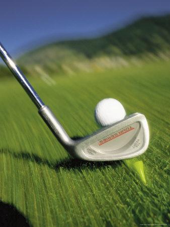 Golf Club and Ball on Fairway Photographic Print by Bob Winsett
