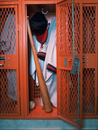 Baseball Locker Room Photographic Print by Daniel Fort