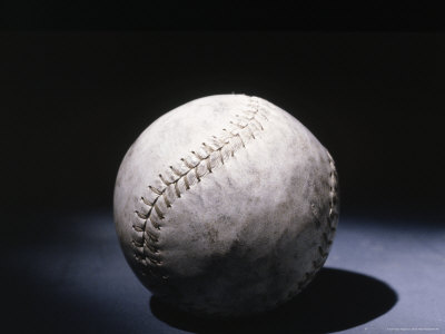 Light Shining on a Baseball Photographic Print by Robin Allen