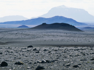 View Towards Barren Interior, North-East Iceland Photographic Print by Richard Packwood