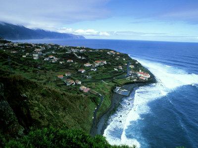 Village of Ponta Delgada on Northern Coast, Madeira Photographic Print by Richard Packwood