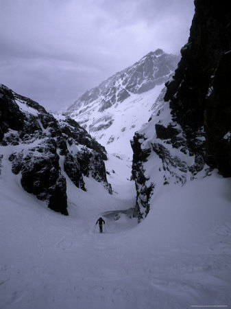 Ski Mountaineering Photographic Print by Michael Brown