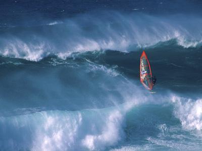 Windsurfer Among Waves Photographic Print
