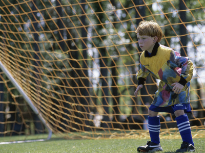 Goalie Standing in The Goal Photographic Print
