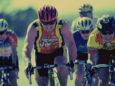 Group of Cyclist Cycling in a Race Photographic Print
