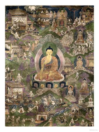 Thangka of the Buddha Giclee Print