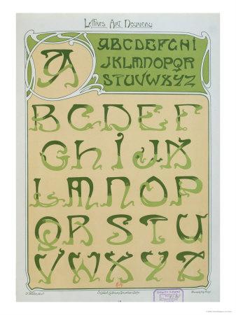 art nouveau. Art Nouveau Alphabet.