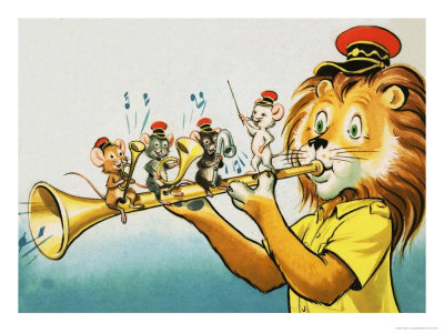 Leo the Friendly Lion Giclee Print by Virginio Livraghi