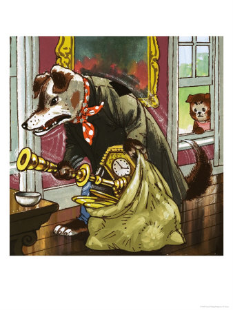The Jolly Dogs Lámina giclée