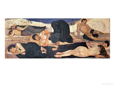 Night, 1890 Gicléetryck av Ferdinand Hodler