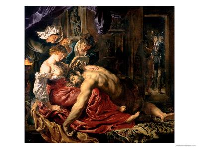 Samson and Delilah, c.1609 Giclee Print by Peter Paul Rubens