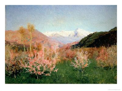 Spring in italy, 1890 wydruk giclee