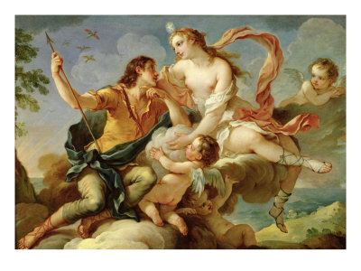 Venus and Adonis Giclee Print by Charles Joseph Natoire