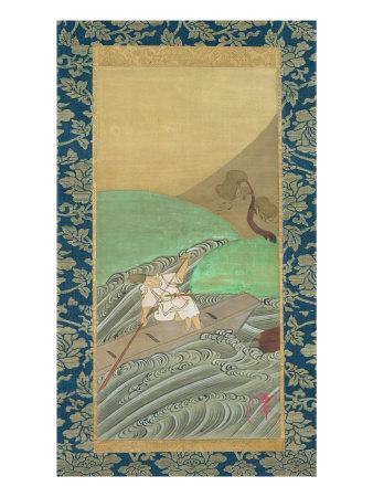 The Boatman Giclee Print by Ogata Korin