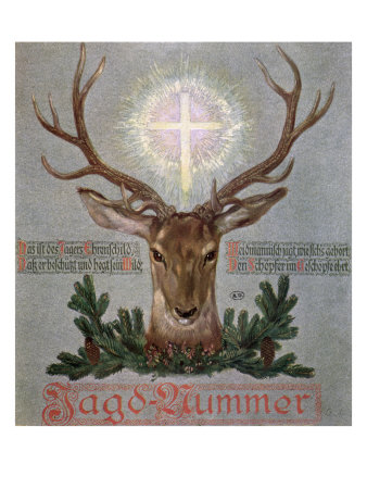 The Stag of St. Hubert Giclee Print