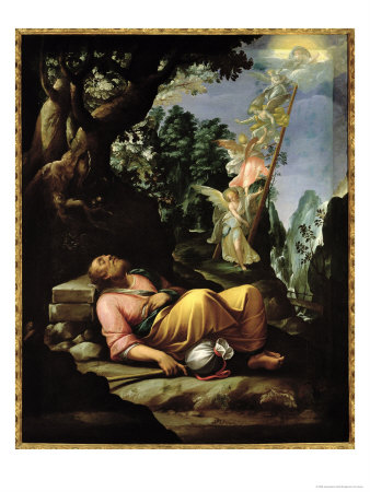 The Dream of Jacob Giclee Print by Alessandro Allori