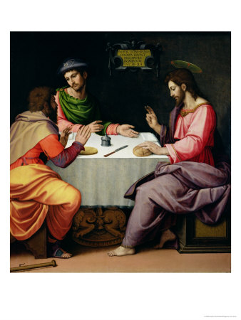 The Supper at Emmaus, c.1520 Giclee Print by Ridolfo Ghirlandaio