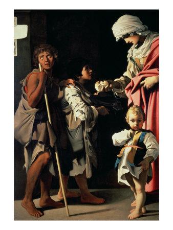 Charity, c.1611 Lámina giclée por Bartolomeo Schedoni