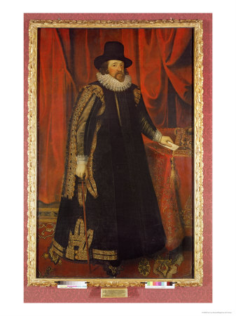 Sir Francis Bacon Giclee Print by Paul van Somer
