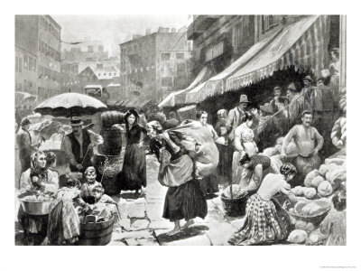 Italian colony in new york illustration in harper s weekly magazine