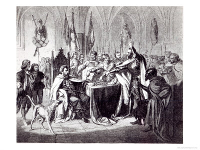 The Sale of the Castle of Marienburg in 1457 to King Casimir IV of Poland, 1854 Giclee Print by Ludwig Rosenfelder
