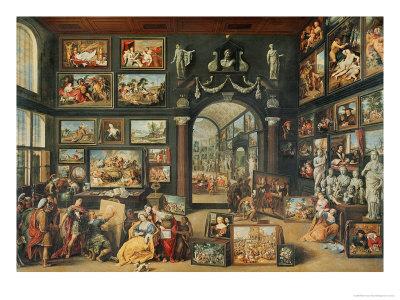 The Studio of Apelles Giclee Print by Willem Van II Haecht