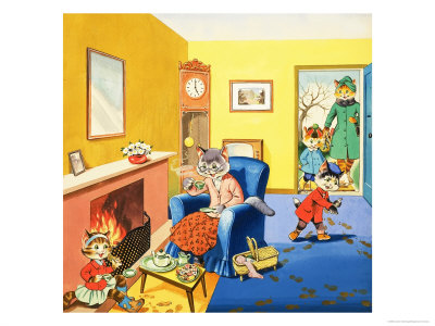 Num Num and His Funny Family Giclee Print