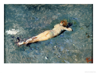 Nude on the Beach at Portici Giclee Print by Mariano Fortuny y Marsal