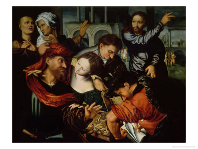 The Calling of St. Matthew Giclee Print by Jan Sanders van Hemessen