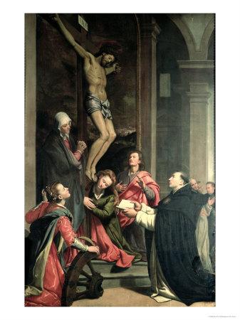 St. Thomas in Prayer Giclee Print by Santi Di Tito