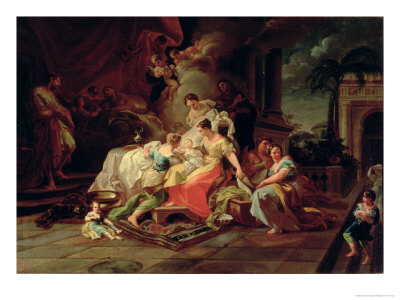 The Birth of Mary, c.1753 Giclee Print by Corrado Giaquinto