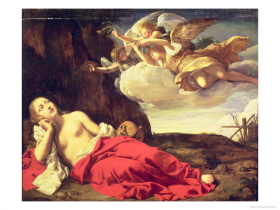 Penitent Mary Magdalene Giclee Print by Guido Cagnacci