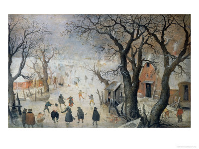 Winter Scene, c.1610 Giclee Print by Hendrik Avercamp