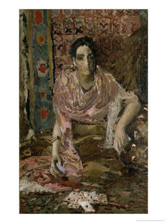 The Fortune Teller, 1895 Giclée-Druck von Mikhail Aleksandrovich Vrubel