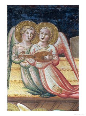 Two Musical Angels, Life of the Virgin and the Sacred Girdle, Chapel of the Sacred Girdle, 1392-95 Giclee Print